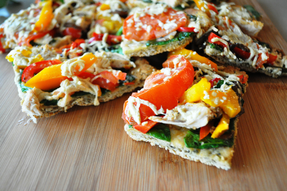Chebe Chicken and Vegetable Flatbread