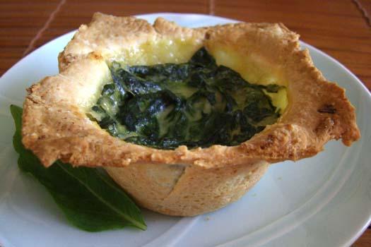 Chebe Garlic Spinach Tartlets