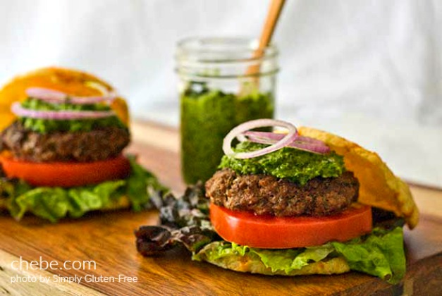 Argentine Burgers on Gluten Free Chipa Buns