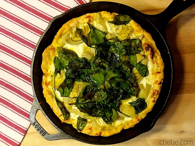 Artichoke 'n Spinach Skillet Pizza