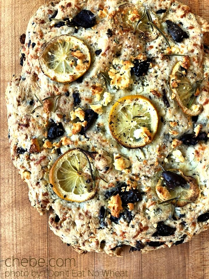 Chebe Feta, Olive and Rosemary Focaccia