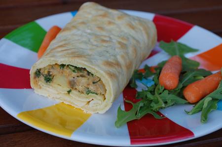 Gluten Free Dairy Free Chickpea Breakfast Burrito