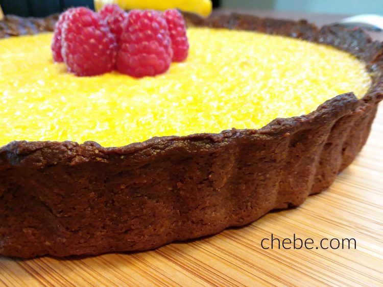 Lemon Tart with Chocolate Chebe Crust