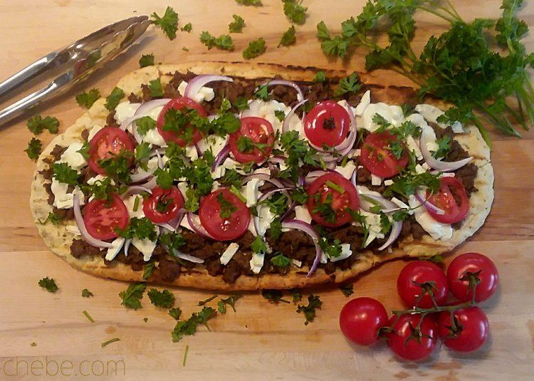 Grilled Mediterranean Lamb Pizza
