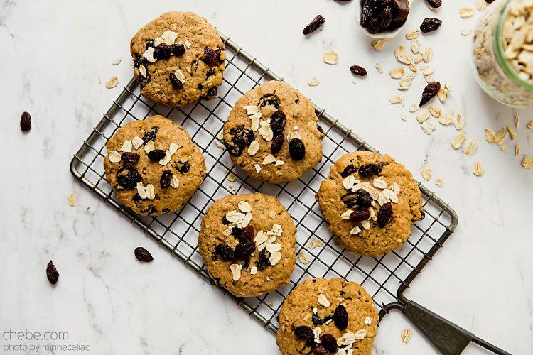 Chebe Oatmeal Raisin Cookies