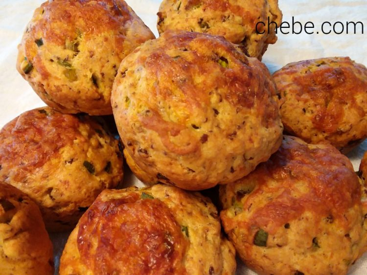 Gluten Free Sausage and Cheddar Biscuits