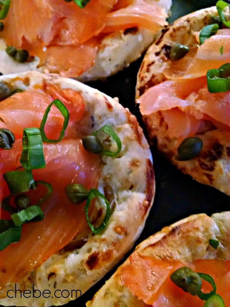 Chebe Smoked Salmon Pizzettes