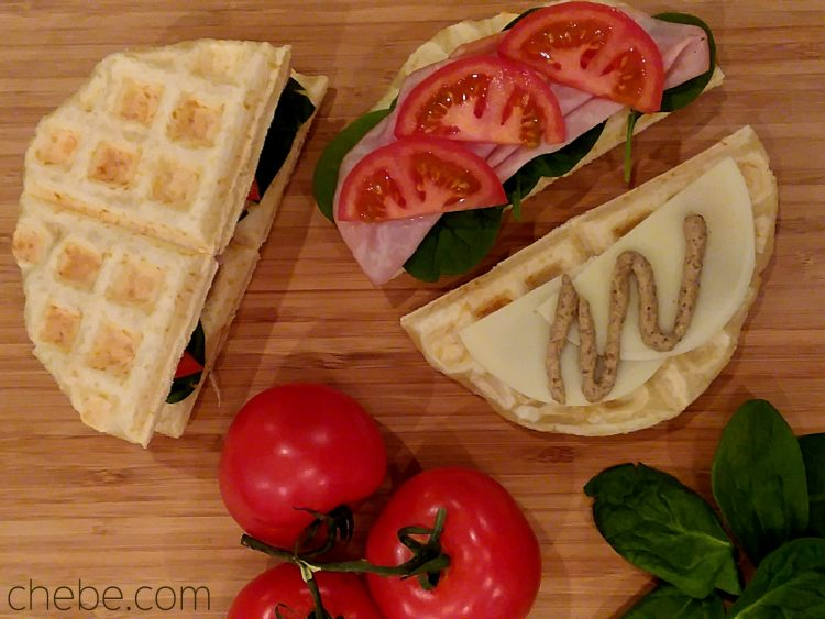 Ham and Cheese Waffle Sandwich