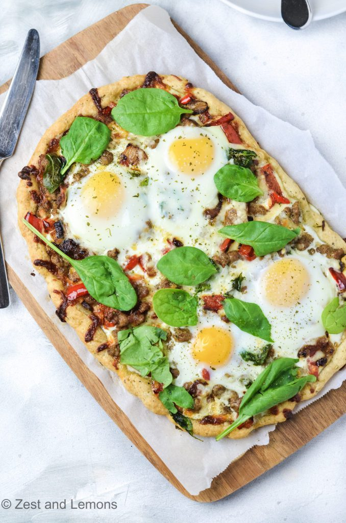 Eggs and Sausage Breakfast Focaccia