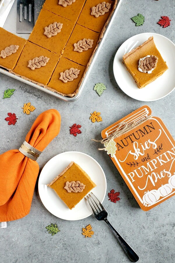 Grain Free Pumpkin Slab Pie