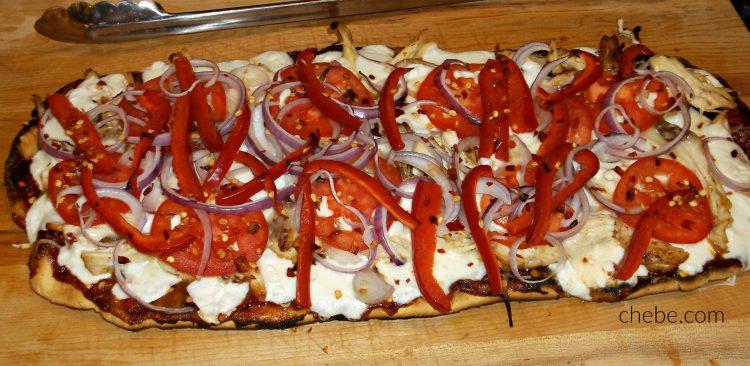 Grilled Chebe BBQ Chicken Pizza