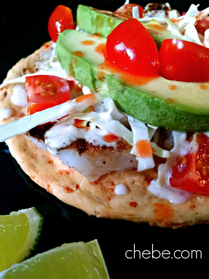 Grain Free Fish Tostadas With Chili Lime Sauce Chebe Recipes