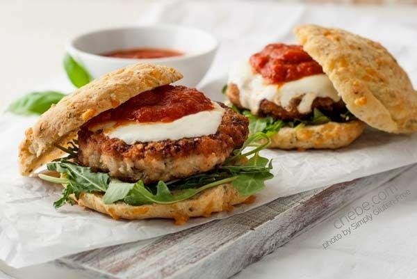 Gluten Free Chicken Parmesan Burgers