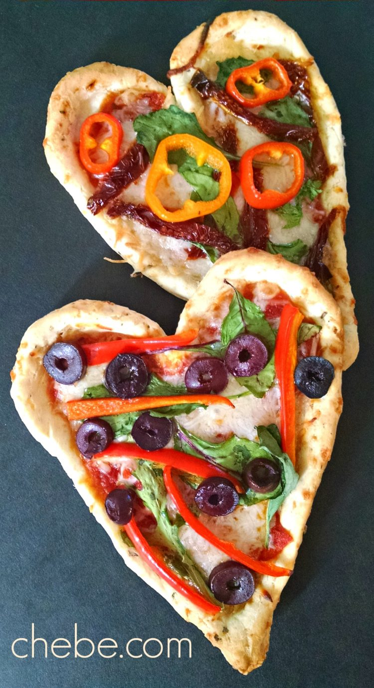 Mini Valentine Pizzas (or, Heart Tarts)