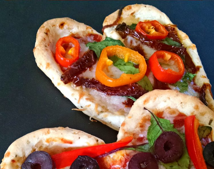 Chebe Mini Valentine Pizzas (or, Heart Tarts)