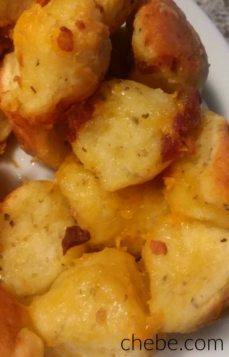 Chebe Bacon and Cheddar Monkey Bread