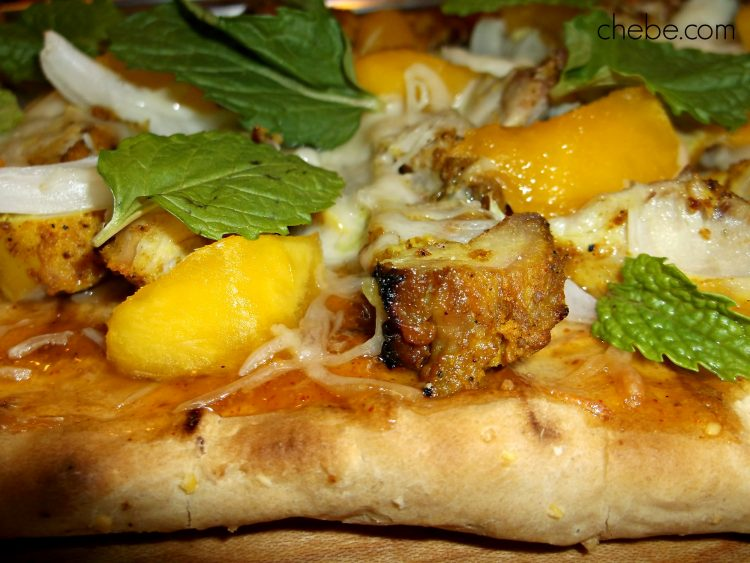 Grilled Mango Chutney Pizza with Rustic Crust