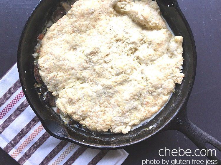 Gluten Free Biscuit Turkey Skillet Pie