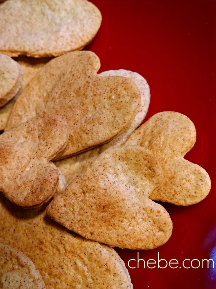 Valentine Cinnamon Almond Snaps